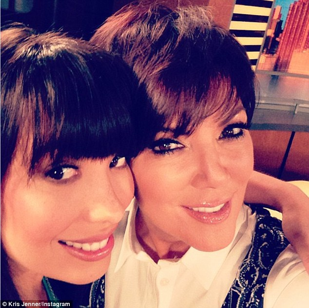 'Good Morning NYC and Good Day NewYork!!' Kris tweeted this Instagram of herself and Dancing with the Stars' Cheryl Burke on Tuesday