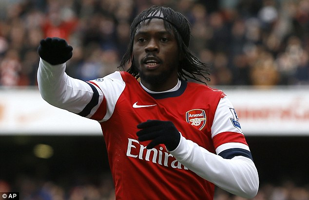 Departing? Arsenal would be happy to sell Gervinho