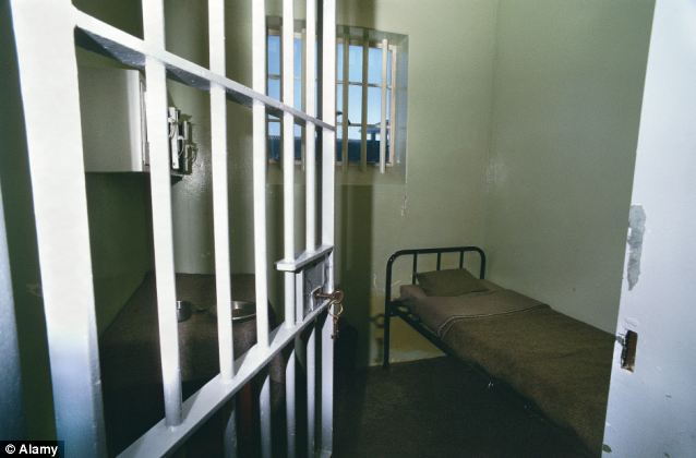 Behind bars: Mandela initialed the passage while he served time in this prison cell in South Africa