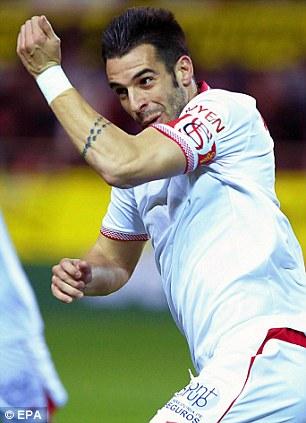 Sevilla FC striker Alvaro Negredo