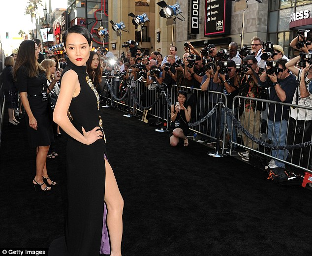 Star stunner: Rinko Kikuchi exuded glamour in a daring dress