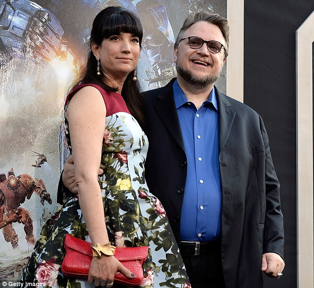 Big risk: Filmmaker Guillermo del Toro, with Lorenza Newton, has spent big on the film so is hoping for box office success
