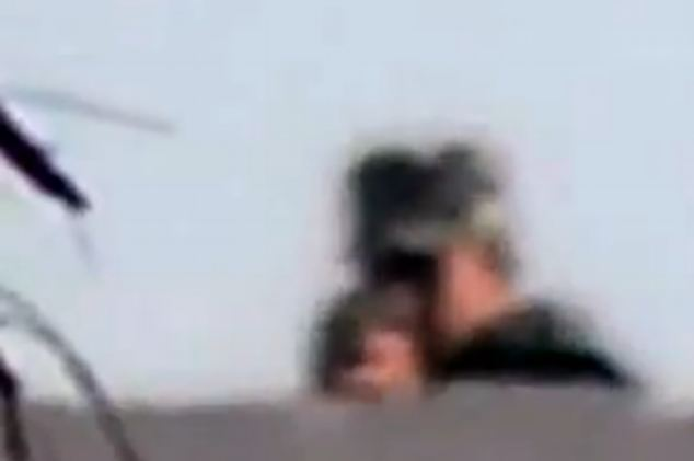 Shocking footage has captured the moment an Egyptian photographer filmed his own death through his lenses.