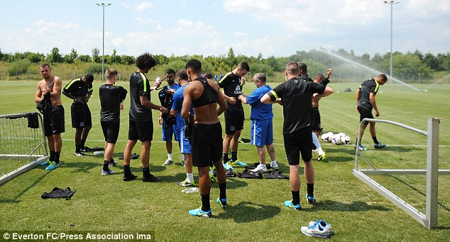 Perfect pitch: The payers couldn't be disappointed about the conditions of the training camp