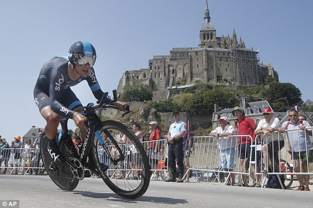 Impressive: Team Sky's Richie Porte finished fourth in the time trial