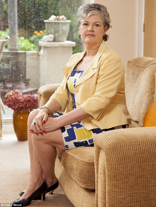 Career woman: Helen O'Neill was hit with breast cancer age 48