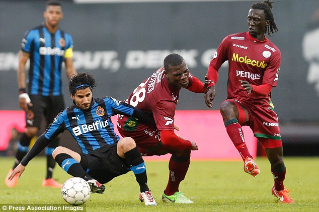 Time to move: Malanda has broken his contract with Zulte Waregem and claims he is a free agent