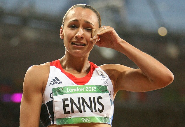 Concern: Jessica Ennis-Hill hasn't taken to the track since triumphing at the London Olympics