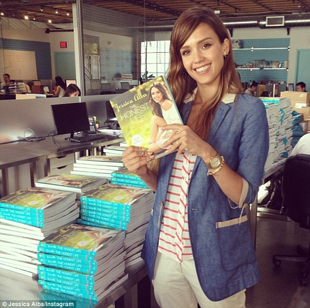 Healthy living: Jessica has been busy promoting her new book The Honest Life, pictured on Tuesday prior to a book signing in Santa Monica
