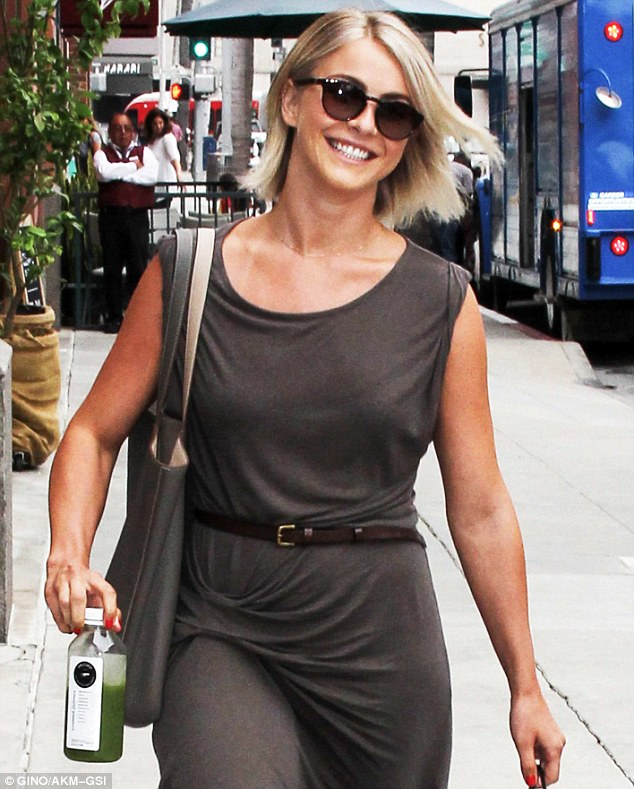 Good spirits: The star looked relaxed and happy during her day out, despite her recent split from Ryan Seacrest