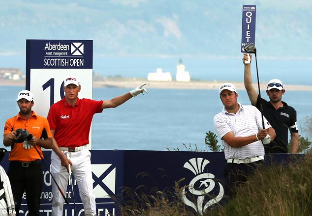 Flawless: John Parry (left) hit eight birdies in opening round