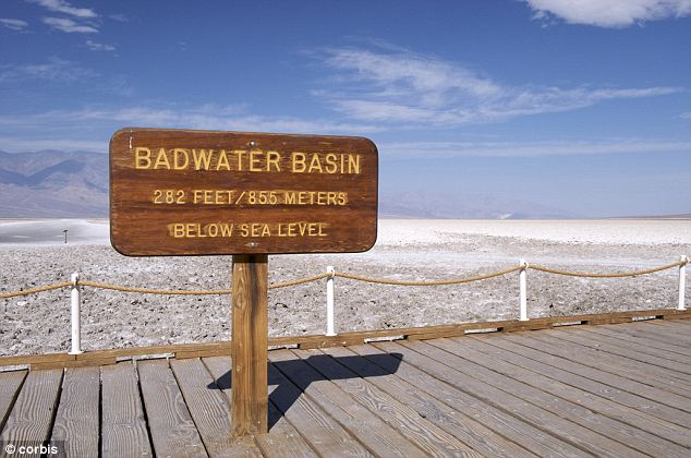 Seasoned: In addition to parking lots and sidewalks, the park Facebook says visitors are trying to fry eggs on the Death Valley's salt basin