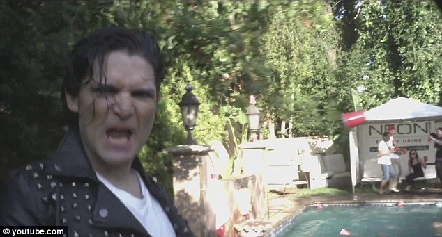Trying hard: Corey Feldman channels Michael Jackson in his new video Ascension Millennium, the new single of his upcoming album