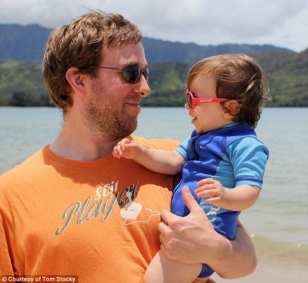 Facing criticism: Tom Stocky took four months of paternity leave from Facebook to take care of his baby daughter while his wife continued to work and was surprised by the discrimination he encountered