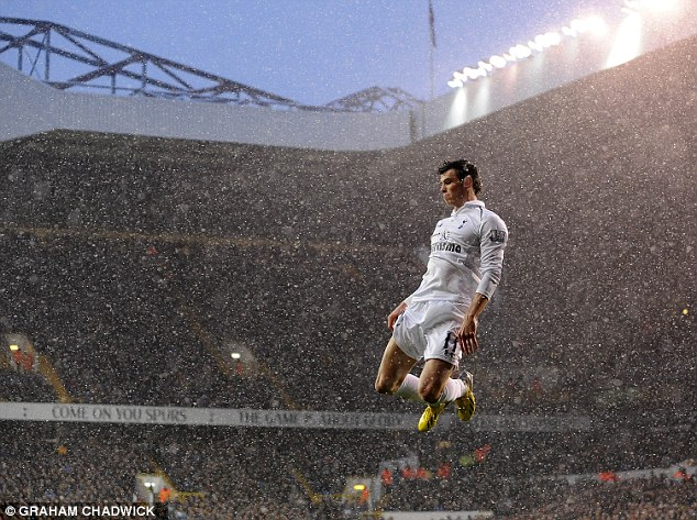 Flying high: Gareth Bale will be a star in the Premier League next season if he stays with Tottenham