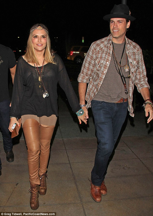 New guy: Brooke wants to be closer to boyfriend Jaron Lowenstein the couple were photographed together in Los Angeles last July