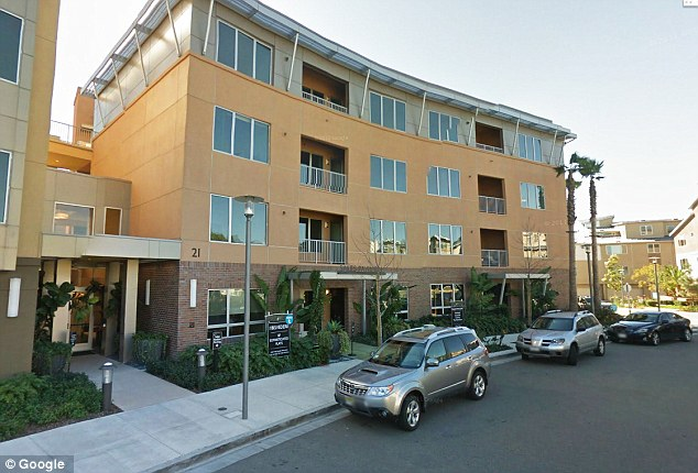 Arrest: Police in Orange County arrested Meshael Alayban at this condo in Irvine - where she has been staying with her family since May of this year