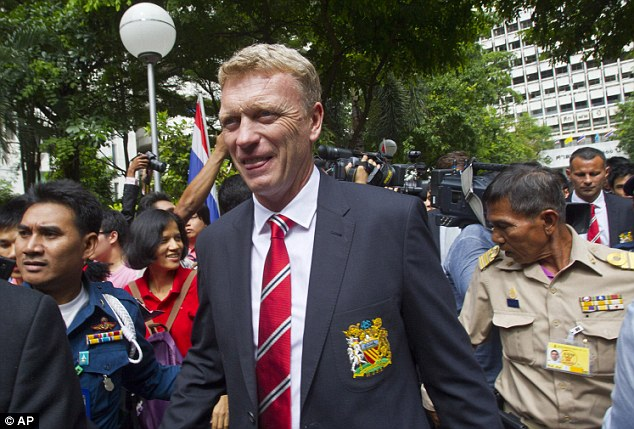 Missing out: David Moyes arrived in Thailand for United's tour to the news of Thiago's potential move