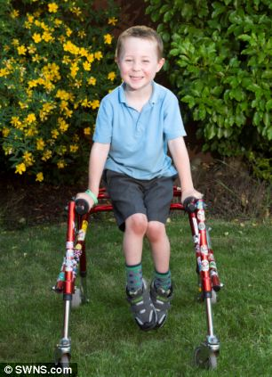 Mr Black's mother, Michaela, said: 'That little boy needs to be out playing football with his friends in the sunshine, not at home asking his mummy why he can't. I'm so proud of Daniel'