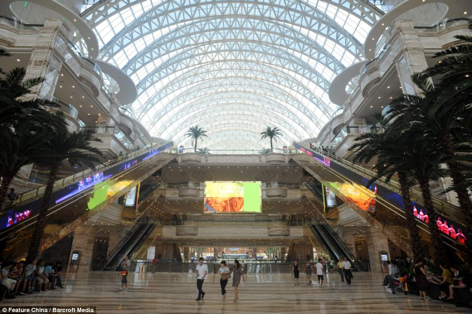 Gigantic: This is the world's largest freestanding building - which is big enough to fit three Pentagons inside