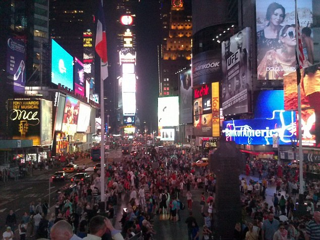 Extortionate: One of the photos taken by Casey Snook  in New York's Times Square