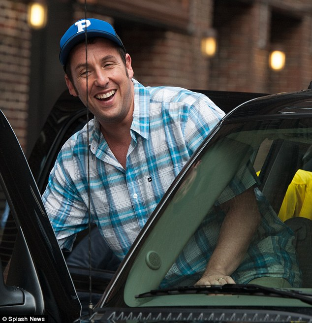 Happy Gilmore: Adam is seen leaving The Late Show With David Letterman following his interview