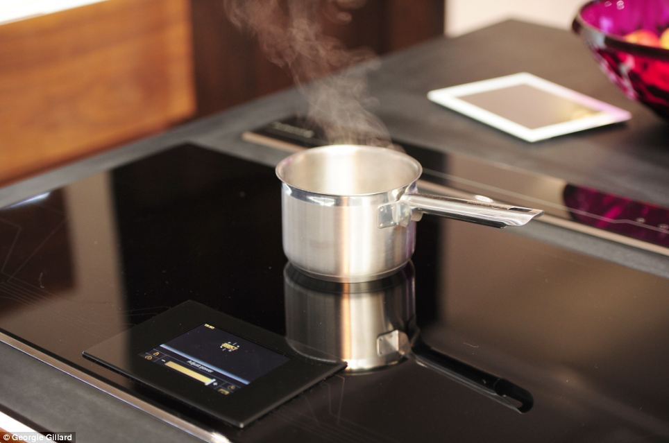 The Cornflake kitchen is fitted with a De Dietrich piano hob, thought to be the world¿s most advanced induction hob.