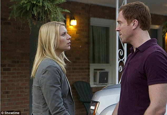 Tension: The chemistry between Danes and Lewis has been a big part of Homeland's appeal