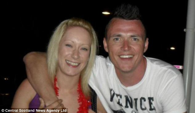 Mr Knapp, pictured with his wife Lisa, is from Dundee. His family are waiting to fly his body back to Scotland from Magaluf