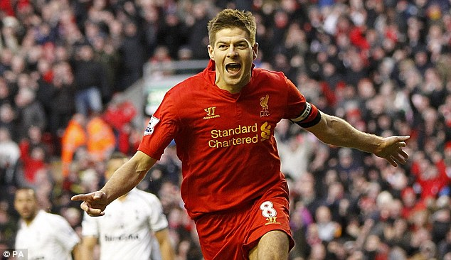 Opening up: Liverpool's Steven Gerrard could feature in BT Sport's game against Stoke on the first day of the season at Anfield
