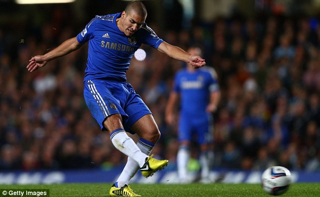 Temporary move: Romeu played 33 times for the Blues, scoring once