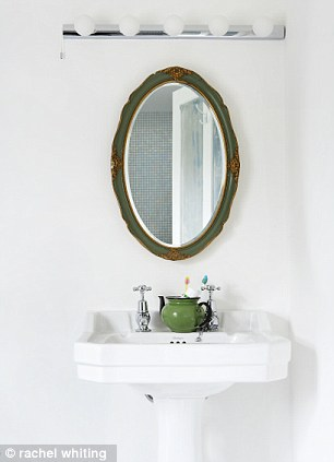 The bathroom fittings are from bathstore.com. Topps Tiles sells a range of mini-mosaics (toppstiles.co.uk)