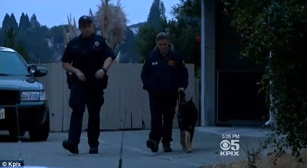 Four-legged help: Police had searched Webb's Oakland home with dogs and also used K-9 units to scour local parks