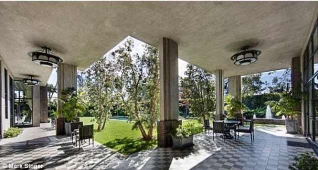 Spectacular: The mansion comes with a super cool outdoor sitting area