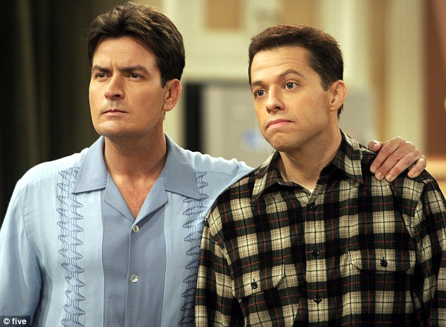 Old sparring partner: But Charlie is hoping a legal move made by old Two And A Half Men co-star Jon will help him