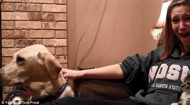 Surprise: Amanda Frost looks shocked as Sadie's teeth begin to chatter