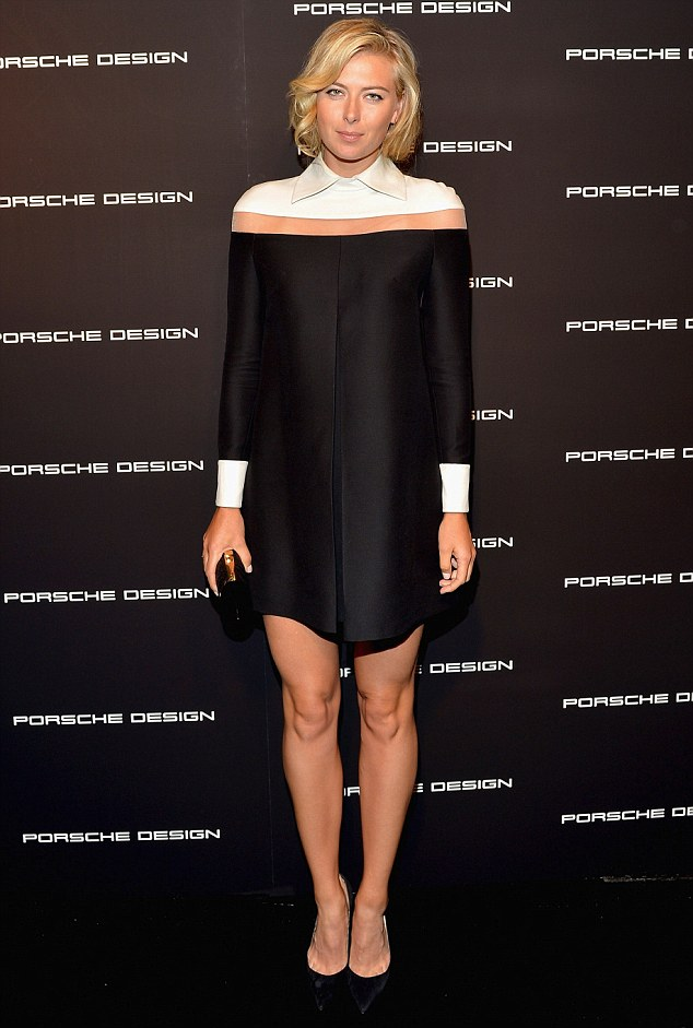 Later that night: The pro athlete glammed up for the red carpet event for the Porsche Design and Vogue re-opening in Beverly Hills