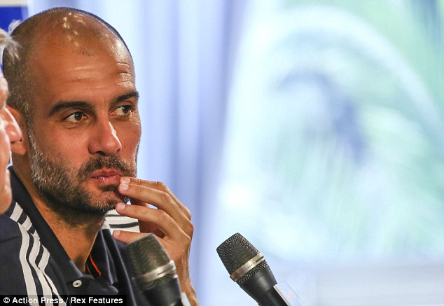 Preparations: Guardiola was speaking at Bayern's pre-season training camp in Arco, Italy