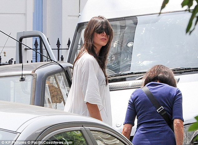Need a haircut? Daisy's long brunette locks seemed in need of a trim as she stepped out for an afternoon in the sun
