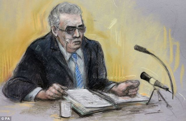 Hearing: A court artist sketch of Ian Brady at his unsuccessful tribunal last month where he demanded to be moved from a maximum security hospital to a prison