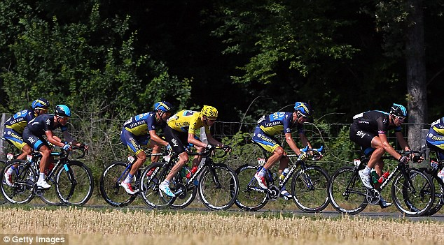 Yellow jersey: Chris Froome is currently leading the Tour de France with Team Sky