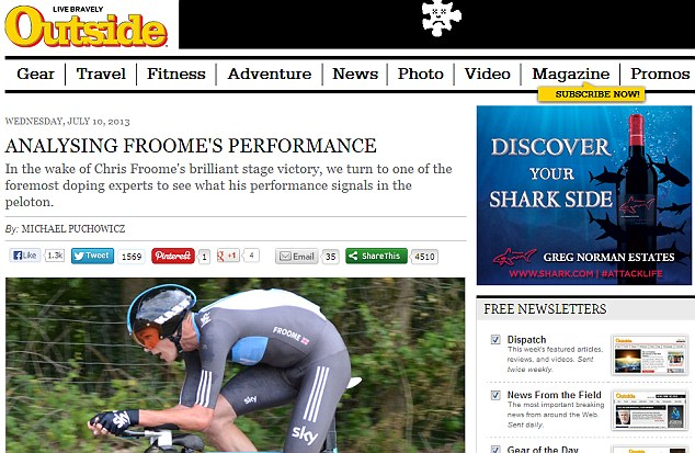 Critics: Doubts have been cast over Froome's efforts, with some questioning his 'clean' stance
