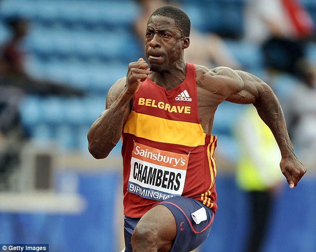 Laying down a marker: Dwain Chambers ran a season's best to qualify fastest for the British Championships semi-finals