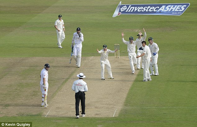 Controversy: Stuart Broad stood his ground after edging to Michael Clarke at slip during day three
