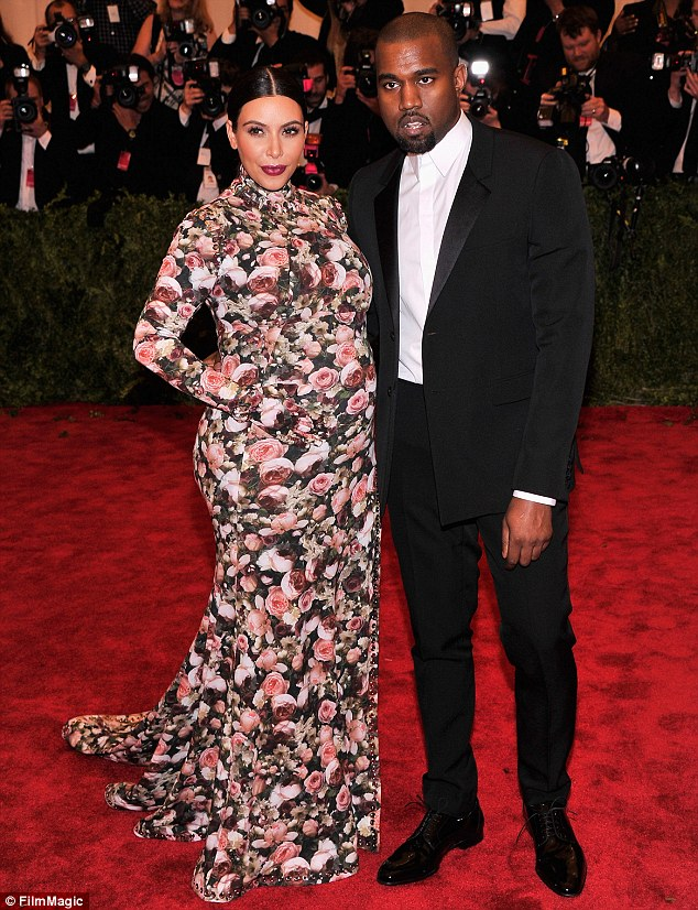 Pregnancy style: Kim and boyfriend Kanye West were the talk of the town when they stepped out for the Costume Institute Gala red carpet in New York in May
