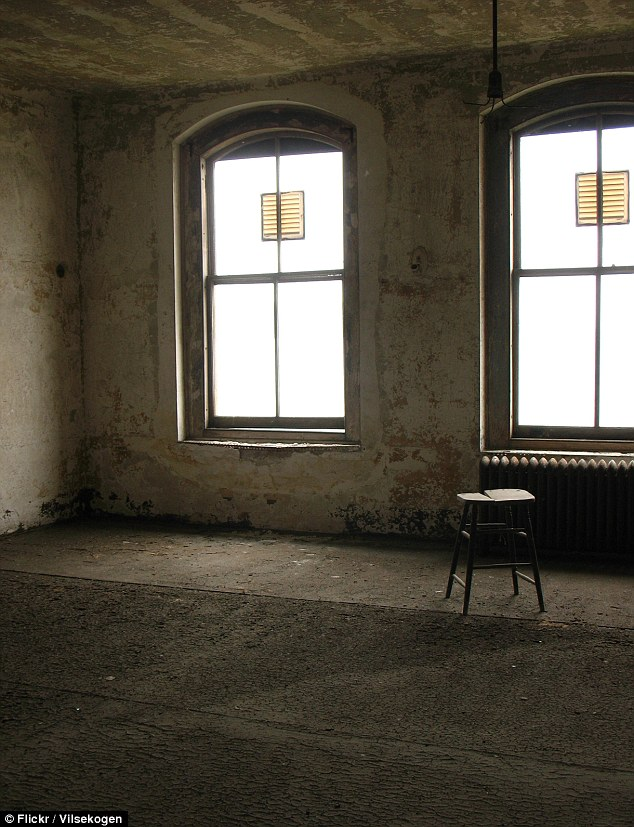 Stark: A broken stool is all that remains in this dusty room at the old medical center