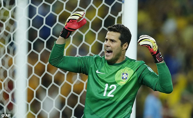 Coming in? QPR and Brazil goalkeeper Julio Cesar is also thought to be on Wenger's hit list