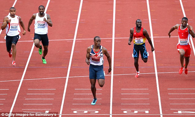 Stunning: James Dasaolu is now convincingly the fastest Brit over 100m
