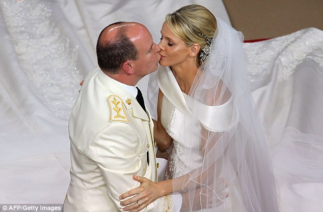 Happily married: Princess Charlene says she has happy memories of her nuptials and describes speculation as 'lies'