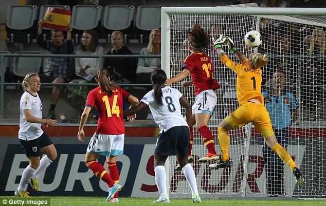 Howler: Bardsley's own goal gave Spain a last -gasp victory earlier in the week